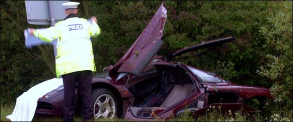 rowin atkinson crash mclaren F1