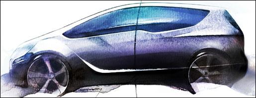 Schets Opel Meriva Concept Genève