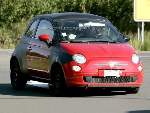 Spyshots: Fiat 500 Cabrio