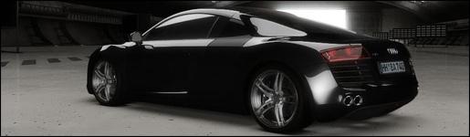 Zwarte Audi R8 Pearl Black