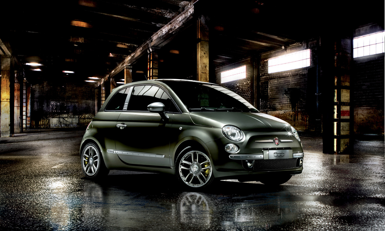 fiat 500 by diesel auto wallpapers. Black Bedroom Furniture Sets. Home Design Ideas