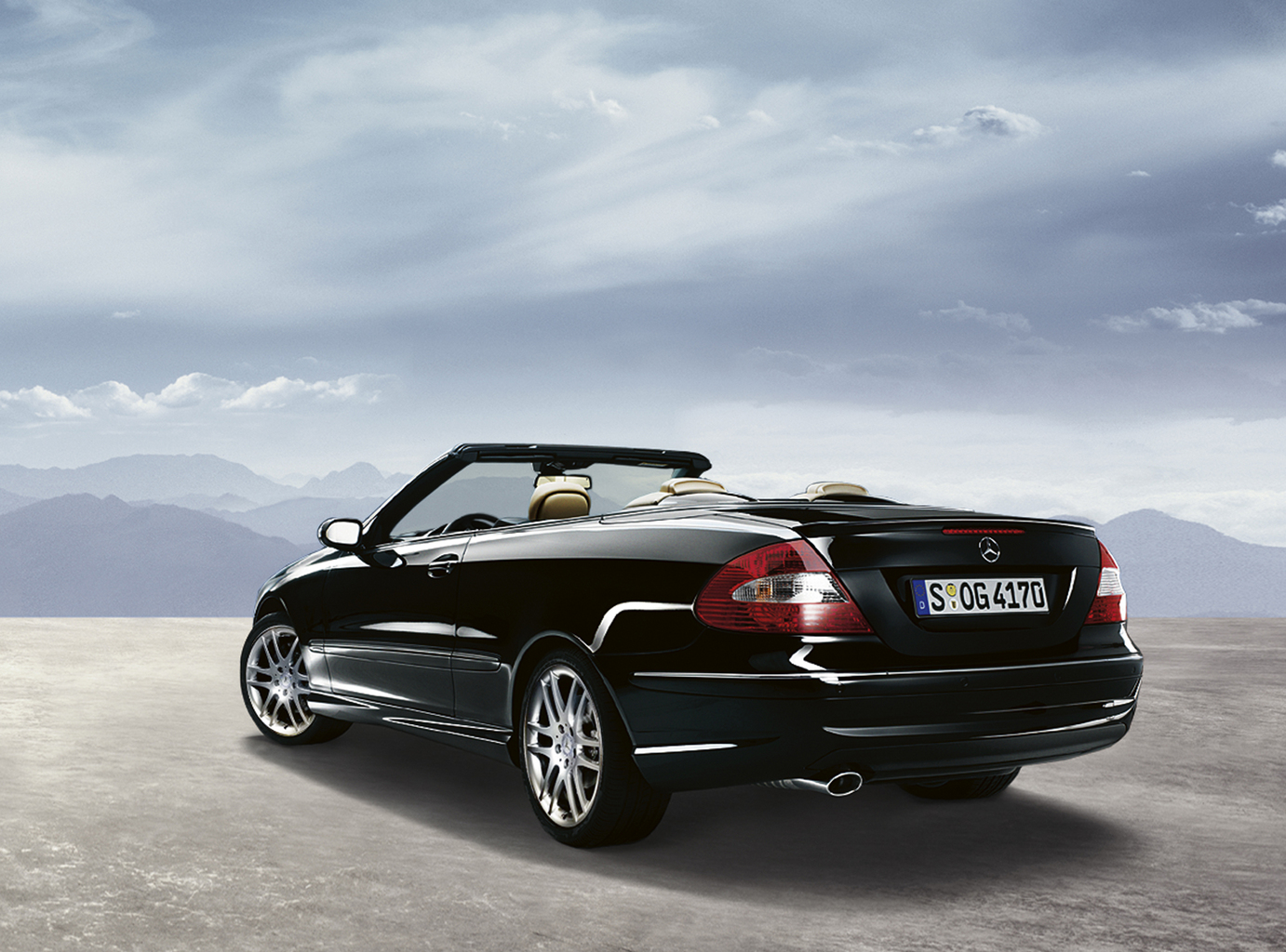 Mercedes CLK Cabrio Auto Wallpapers GroenLicht.be